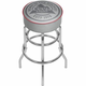 Coors Light Born In The Rockies Gray Padded Chrome Bar Stool with Swivel