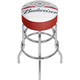 Budweiser Classic Label Padded Chrome Bar Stool with Swivel