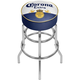 Corona Extra Classic Label Padded Chrome Bar Stool with Swivel