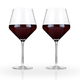 Viski Raye Crystal Burgundy Wine Glasses - 21 oz - Set of 2