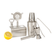 Stainless Steel Mixology Bar Tool Set with  Shaker & Personalized Stand - 6 Pieces
