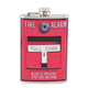 Fire Alarm Stainless Steel Hip Flask - 8 oz