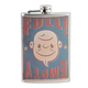 Full - Empty Stainless Steel Hip Flask - 8 oz