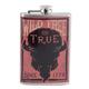 Wild Free & True Since 1776 Stainless Steel Hip Flask - 8 oz