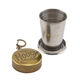 Hooch Portable Collapsing Steel Shot Glass with Antique Brass Cap - 2 oz