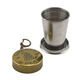 Liberty Or Death Portable Collapsing Steel Shot Glass with Antique Brass Cap - 2 oz