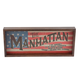 Manhattan Recipe Wooden Serving Tray - Makes Great Wall Art