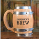 Personalized Oak Barrel Mug with Stainless Steel Interior - 16 oz