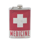 Medicine - Use As Needed Stainless Steel Hip Flask - 8 oz