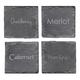 Wine Connoisseur Slate Coasters - Set of 4