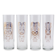 Luminarc Copper Tiki Gods Highball Collins Glass Set - 13 oz - 4 Pieces