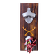 Rustic Antler Wood Wall Mounted Bottle Opener with Magnetic Cap Catcher