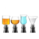 Assorted Glass Measuring Jigger & Bottle Stopper Set - 4 Pieces