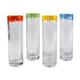 Artland Mingle Hand Blown Collins Glasses with Reusable Straws - 12 oz - Set of 4