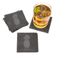Personalized Pineapple Slate Coasters - Set of 4