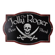 The Jolly Roger Beer Ahoy! Metal Bar Sign