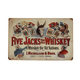 Vintage Five Jacks Whiskey Metal Bar Sign