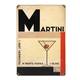 Art Deco Martini Metal Bar Sign
