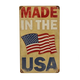 Made In The USA Metal Bar Sign