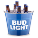 Bud Light Full Color Beer Bottle Bucket