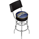 Buffalo Sabres NHL Chrome Swivel Bar Stool with Back