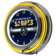 Buffalo Sabres NHL Chrome Double Ring Neon Clock