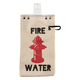 Fire Water Canvas Flask & Beverage Tote  - 16 oz