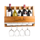 Personalized Rustic Wooden Wall Mounted Wine Bottle & Stemware Rack