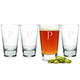 Personalized Pint Glasses with Weighted Bases - 16 oz - Set of 4