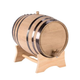Oak Dispensing Barrel with Stand - Black Steel Bands - Unfinished - 20 Liter
