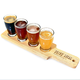 Personalized Drink Local Beer Tasting Serving Paddle Flight Set - 5 Pieces