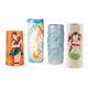 Tiki Hula Girls Ceramic Mug Set - 12 oz - 4 Pieces