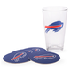 Buffalo Bills Pint Glass & Coaster Set - 5 Pieces
