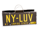 New York State Retro License Plate Liquor & Wine Bottle Gift Bag