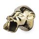 Lion Head Bar Rail Bracket - Polished Brass - 2