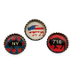 Buffalo Art Handmade Bottle Cap Magnets - Assorted Set of 3