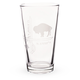 Etched Buffalo Hockey Arena Coordinates Pint Glass - 16 oz