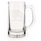 Standing Buffalo Glass Beer Stein - 13 oz