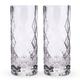 Viski Raye Gem Crystal Highball Glasses - 14 oz - Set of 2