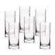 Urban Bar Etched Crystal 1910 Retro Hi-Ball Glasses - 11.8 oz - Set of 6