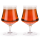 Viski Raye Crystal Goblet Beer Glasses - 16 oz - Set of 2