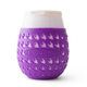 Goverre Stemless Wine Glass - Thick Glass  with Silicone Sleeve & Drink-Through Lid - Purple