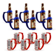 Instant Beer Stein Can & Bottle Grip Handle Party Pack - Set of 12
