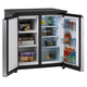 5.5 CuFt Counter Height Side by Side Refrigerator/Freezer - S/S