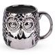 Embossed Metallic Silver Owl Mug - 20 oz
