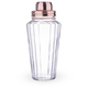 Paneled Glass Cocktail Shaker with Copper Lid - 29 oz