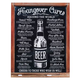 Hangover Cures Metal Bar Sign