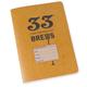 33 Brews Homebrewing Log Beer Journal