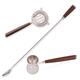 Viski Admiral Teak Wood & Stainless Steel Essential Bar Tools Set - 3 Pieces