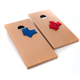 Wooden Cornhole Bean Bag Toss Game Set - Regulation Size